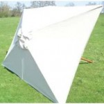 Parasoldoek voor rechthoekige modellen zijn soms lastig te vinden.