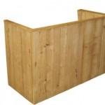 Halverwege de bouwtekening voor een bar van steigerhout.