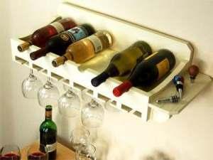 Wijnrek zelf maken van pallets.