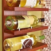 Doe het zelf voorbeeld, een wijnrek maken van steigerhout.