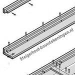 Montage van de zitting voor een tuinbank, tuinstoel of hoekbank XL van steigerhout.