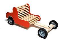 Mooie auto om zelf te maken voor kinderen.